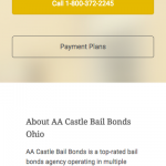 Castle Bail Bonds Website (MobileView)